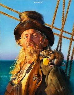 illustrator Don Maitz Paintings #11 #pirates This is really what happened to Billy the Kid :)
