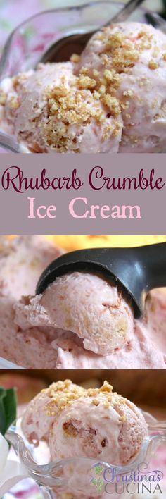 Step-by-step recipe for delicious rhubarb ice cream--perfect for summer!