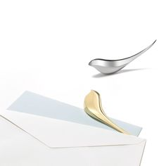 Birdie Paper Knife letter opener in silver and gold