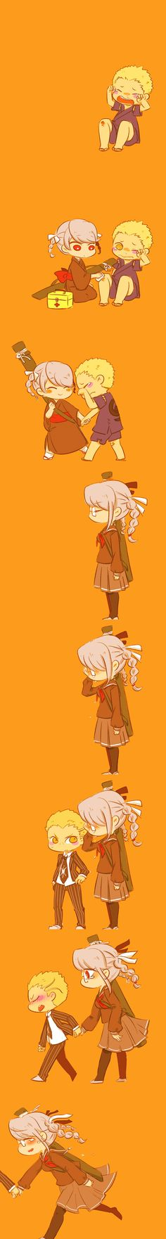Fuyuhiko and Peko are such cuties together
