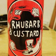 Sour with a hint of vanilla. - Drinking a Rhubarb And Custard by Mad Hatter Brewing Company
