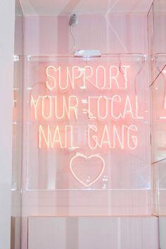 Home Beauty Salon, Home Nail Salon, Nail Salon Design, Nail Salon Decor, Salon Interior Design, Pink Nail Salon, Best Nail Salon, Salon Quotes, Nail Quotes