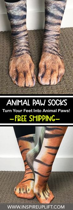 Turn your feet into animal paws with these Paw Print Socks. Animal Print Socks, Unique Gifts, Great Gifts, Cool Things To Buy, Stuff To Buy, Own Home, Spice Things Up, In This World, Inventions