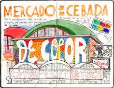 Dibujos de Madrid   Domestika Madrid, Map, Travel Journals, Flow, Watercolor Painting, Creativity, Illustrations, Blue Prints, Drawings