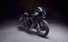 "Jeremie Magri's Honda CB500 Cafe Racer ""Black Custom"" by Kikishop Customs - The Royal Racer #motorcycles #caferacer #motos | caferacerpasion.com"
