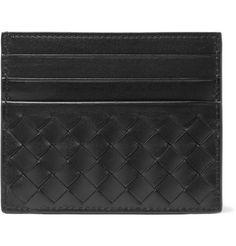Bottega Veneta Intrecciato Woven-Leather Cardholder   MR PORTER