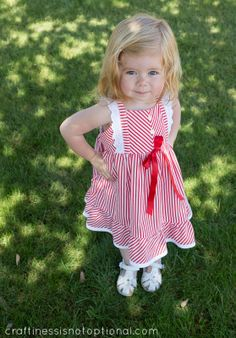 adorable striped edelweiss dress by CINO (pattern by Hey June)