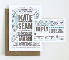 custom invitation design | Good South |  #southwestern #native #wigwam
