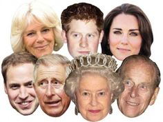 Royal Family Face Masks, Pack of 7