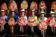Jacchigua Ecuatorian folkloric ballet performers.  Ecuador is brimming with culture