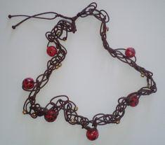 "Halskette ""Boho-chic"" Halsschmuck Crystal Jewelry, Gemstone Jewelry, Etsy Jewelry, Handmade Jewelry, Selling Jewelry, Sell On Etsy, Hand Stamped, Boho, Polymer Clay"