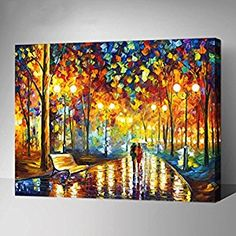 MADE4U Paint By Numbers Kit Canvas Mounted on Wood Frame with Brushes and Paints for Adults Children Seniors Junior DIY Beginner Level Acrylics Painting Kits on Canvas (Fairyland) (The Road With You, G444): Amazon.co.uk: Toys & Games