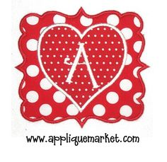 Applique Market has a wonderful selection for all of your holiday custom design needs. Valentine's Day is a great time of year for customized clothing with our heart joy Applique design.