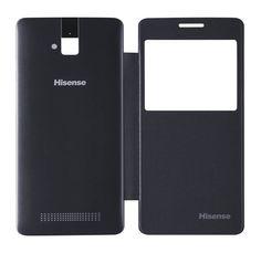 Hisense Cover U980. Carcasa delantera imitación piel y Carcasa trasera de plástico. Negro.#smartphone #Hisense #cover #carcasa #accesorios #negro #tecnología #U980