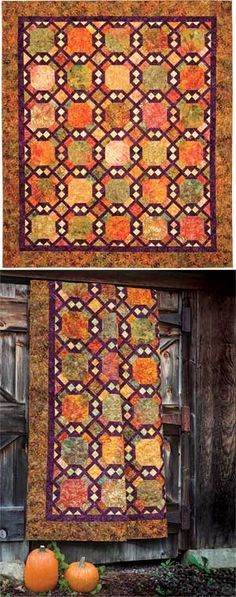 EARTH RHYTHMS QUILT - 2 blocks on point - lovely fall colours! great quilt!