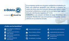 Con E-Boleta reemplace los documentos físicos de pago del trabajador por un documento electrónico cumpliendo con todas las medidas de seguridad que exige la norma. Es una solución de Boleta de pago…