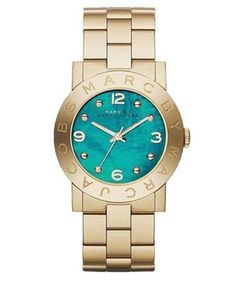 Marc by Marc Jacobs Amy Gold-Tone Stainless Steel Bracelet Watch with Mother of Pearl Dial