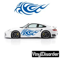 Tribal Flames Wall Decal - Vinyl Decal - Car Decal - DC 085