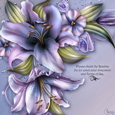 Moonbeam's Wynter Lilies is an original digitally painted Lily design resource…