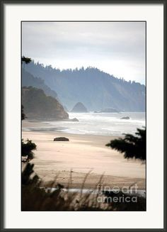 "Oregon Coast Framed Print By Flamingo Graphix John Ellis. Available in many formats, sizes and prices. Note: watermark ""Fine Art America"" will not appear on final print."
