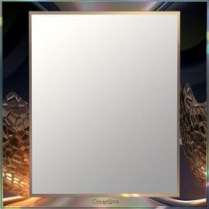 Art Deco Mirror      http://www.creartlive-shop.com  This mirror is adorned with a precious integrated frame