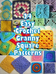 24 Easy Crochet Granny Square Patterns also this pin is to Cool 2B Squared Granny Square free pattern EASY