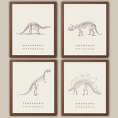 Boys Nursery Art - Dinosaur Nursery Decor - Kids Wall Art - Playroom Wall Art - Dinosaur Nursery Art