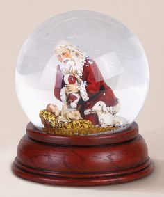 Take a look at this Kneeling Santa Globe by Roman, Inc. on #zulily today!22