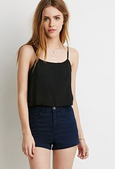 Vented-Back Crop Top | Forever 21 - 2000077276
