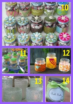 baby food jars project ideas - use for bath salts