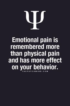 Physical pain is not remembered at all.