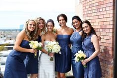 J. Crew bridesmaids (in Caspian Blue)