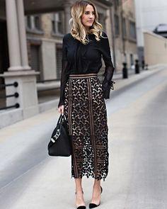 lace look street style 7 Look Fashion, Fashion Clothes, Street Fashion, Trendy Fashion, Autumn Fashion, Fashion Outfits, Womens Fashion, Fashion Trends, Fashion Black