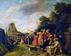F. Francken II La construcción de la Torre de Babel, s XVII Museo del Prado