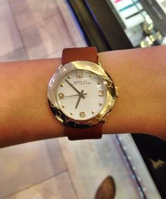 Marc Jacobs tan leather watch