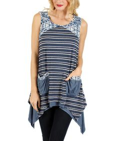 Another great find on #zulily! Blue Stripe Handkerchief Tunic by Lily #zulilyfinds