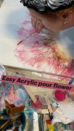 Flow Painting, Mandala Painting, Diy Painting, Pour Painting, Acrylic Pouring Art, Acrylic Art, Acrylic Painting Canvas, Alcohol Ink Painting, Alcohol Ink Art