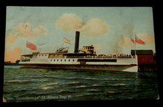 "Postcard ""TICONDEROGA"" ST ALBANS BAY VERMONT (Hugh C Leighton Maine 25652) | eBay"