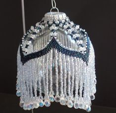 Beaded Victorian Ornament Cover by BittyBeads on Etsy
