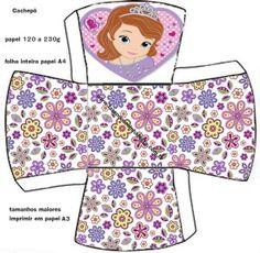 cachepô Princesinha Sofia da Disney