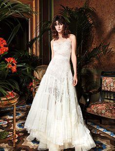 YolanCris | Vestido de novia de encaje de estilo romantico CASIA
