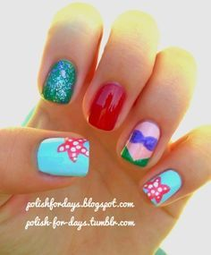 little mermaid nails - Google Search