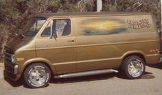 """""""Country Comfort"""" custom 70's Dodge van"""