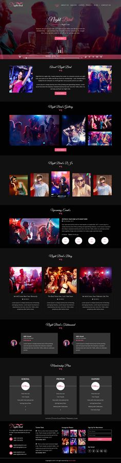 Buy Night Bird - Dance Club HTML Template by ThemesItem on ThemeForest. Night bird Multi Page HTML Template is a uniquely HTML template develop in HTML with a modern look. HTML files are we. Best Website Templates, Html Templates, Wordpress Template, Bootstrap Template, Template Site, All Website, Website Layout, Music Player Website, App Design