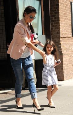 Katie Holmes and Suri Cruise. Cute