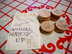 Waldorf and Montessori Inspired - Animal Match Up-  Wooden Memory Game on Etsy, $21.43