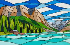 Mixed Media Artwork, Banff National Park, Acrylic Canvas, Canvas Board, Pyrography, Artist, Painting, Artists, Painting Art