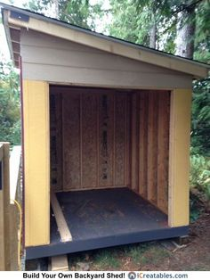 Shed Plans Lean To Shed Plans With Roof Sheeting Installed The