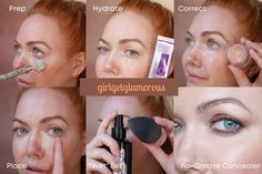 girlgetglamorous Concealer Tutorial | 35+ Mature Skin Technique • GirlGetGlamorous How To Apply Concealer, Best Concealer, Under Eye Concealer, How To Apply Makeup, Under Eye Makeup, Makeup Over 40, Eye Makeup Tips, Makeup Tricks, Makeup Tips To Look Younger