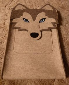 Boutique ID Wolf Laptop Case (15 by 10 inches) with Swarovski Crystal Eyes